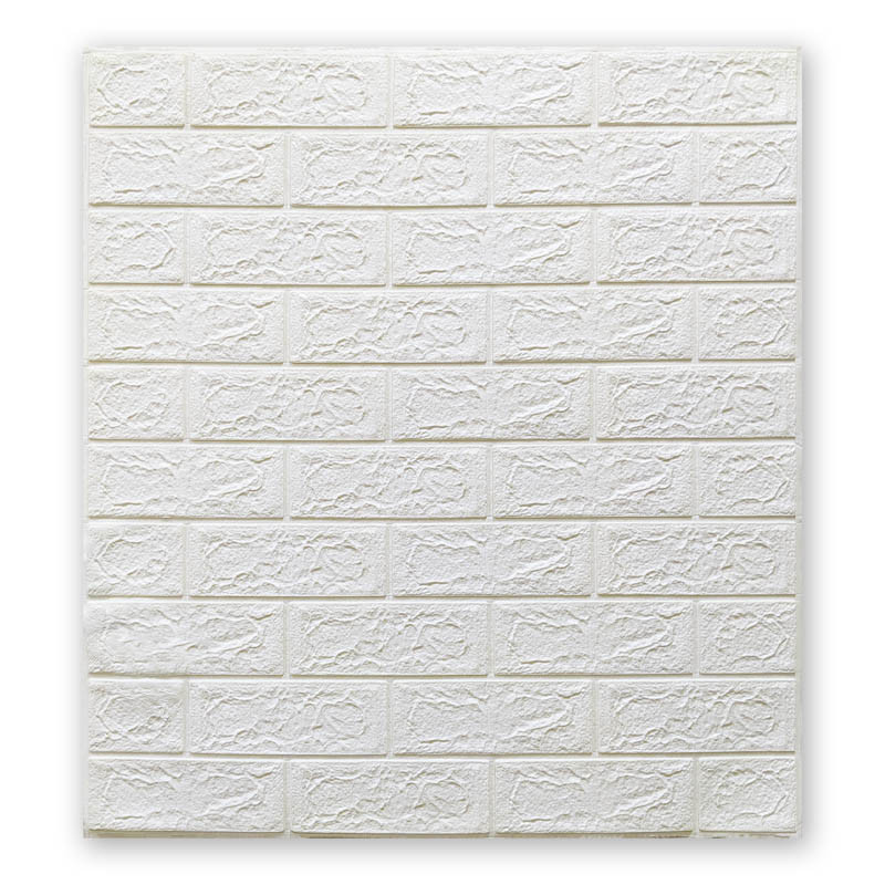 Самоклеющиеся обои под Белый Кирпич (самоклеющиеся 3d панели для стен оригинал) 700x770x5 мм