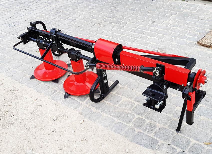 Косилка роторная боковая КР-09М2 для мототракторов любой модели, высокие стойки, транспортное положение