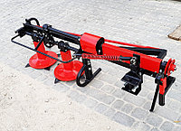 Косилка роторная боковая КР-09М2 для мототракторов любой модели, высокие стойки, транспортное положение, фото 1