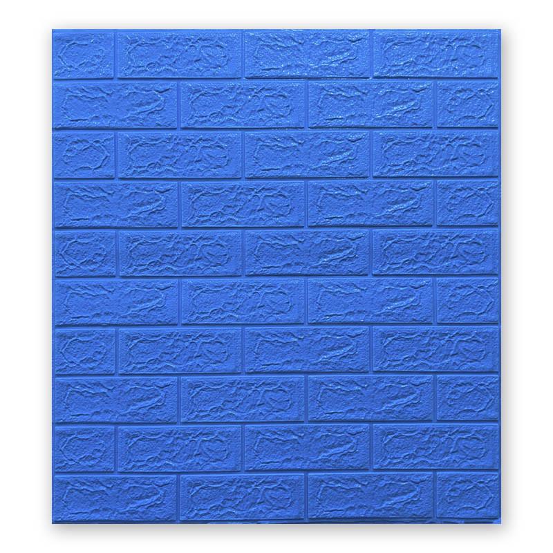 Самоклеющиеся обои под Синий Кирпич (самоклеющиеся 3d панели для стен оригинал) 700x770x5 мм
