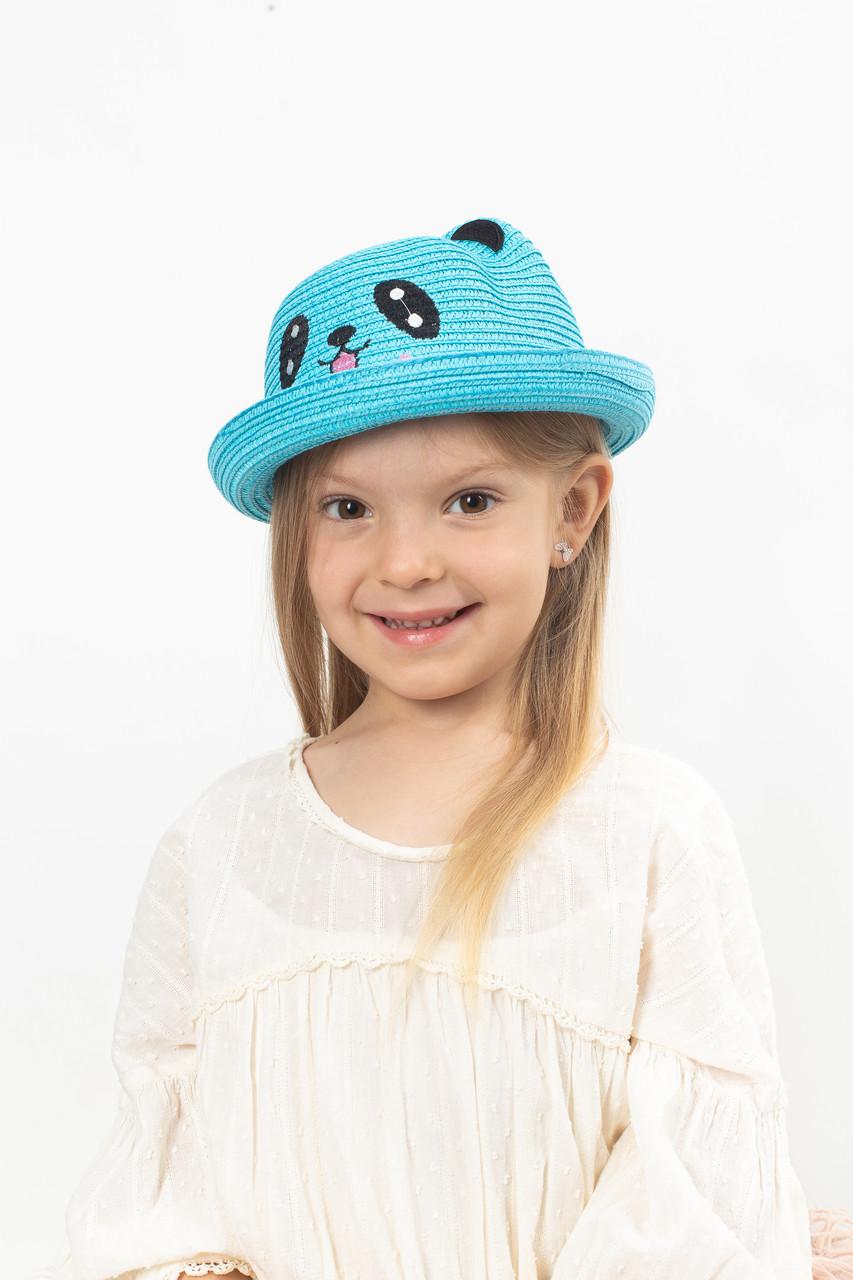 Шляпа детская Панди голубая 50 (SHLD-2012)