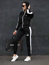 Жіночий чорний спортивний костюм Puma