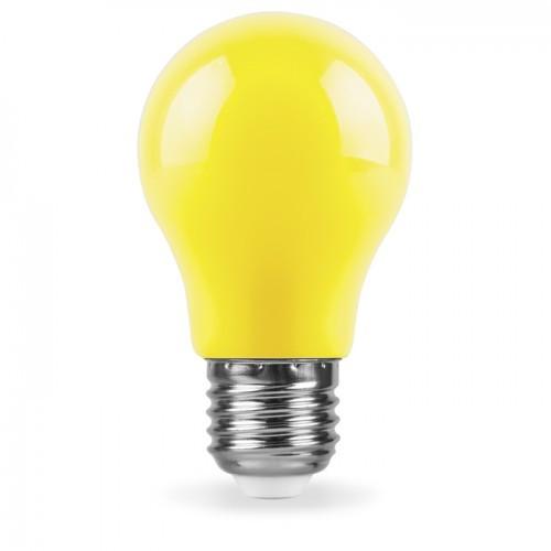 Лампа LED 3W E27 жовта для нічників та гірлянд LB-375 Feron