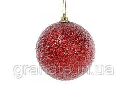 Набор ёлочных шаров цвет: красный, покрытие лёд 8см (16шт)