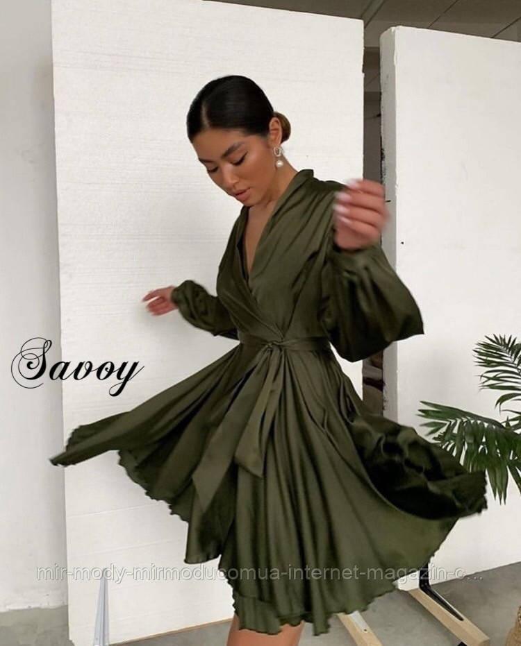 Нарядное шелковое  платье с 42 по 46 размер ( мд-о 310)