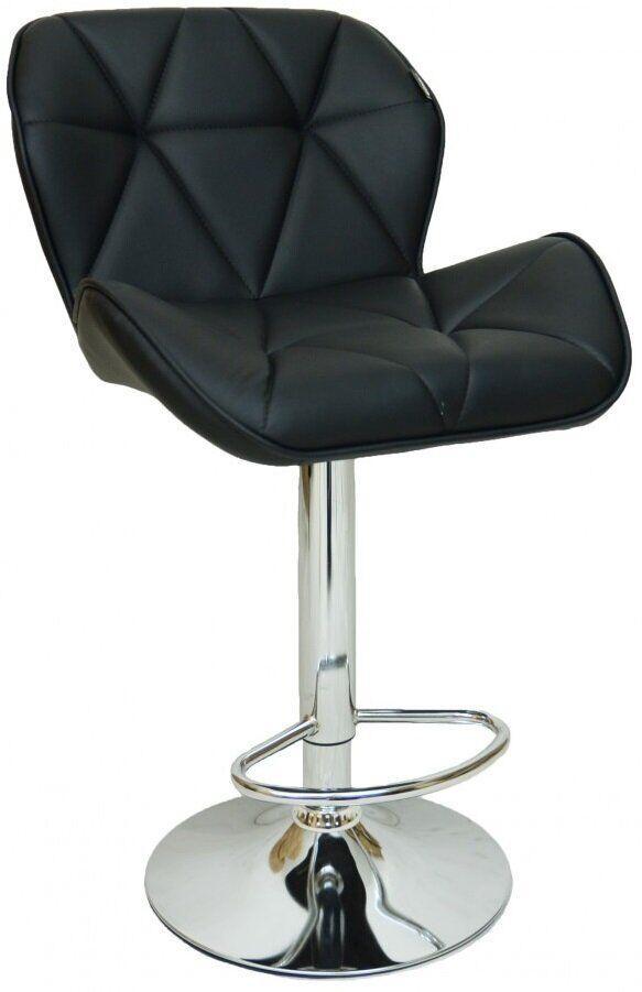 Барный стул хокер металический с нагрузкой до 120 кг мягкий с оборотом на 360 градусов черный