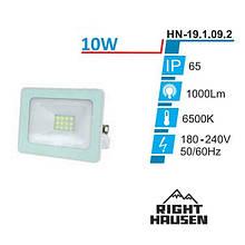 Прожектор LED RIGHT HAUSEN Soft світлодіодний 10W 6500K IP65 БІЛИЙ HN-191092