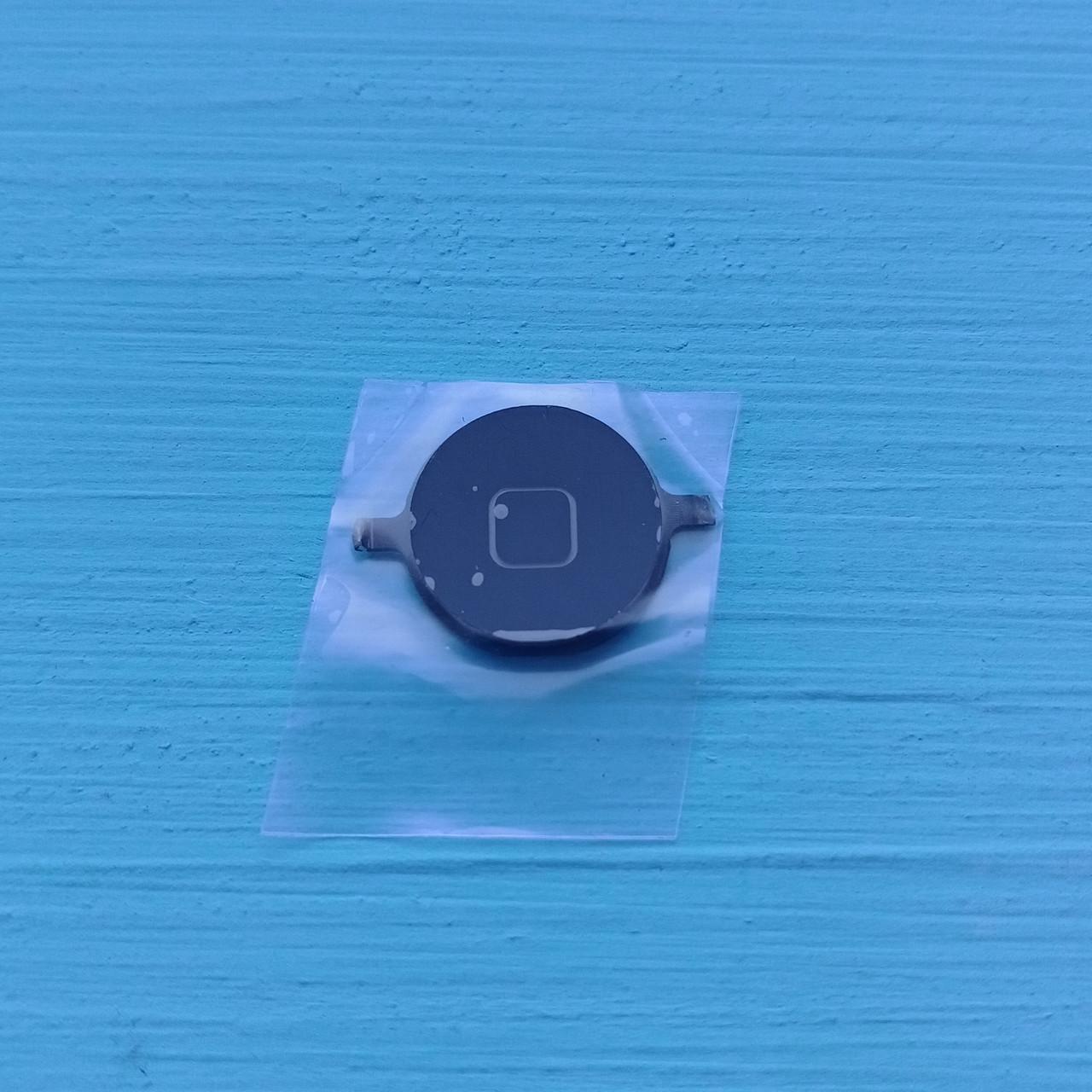 Пластик кнопки меню Apple iPhone 4, 4S Black