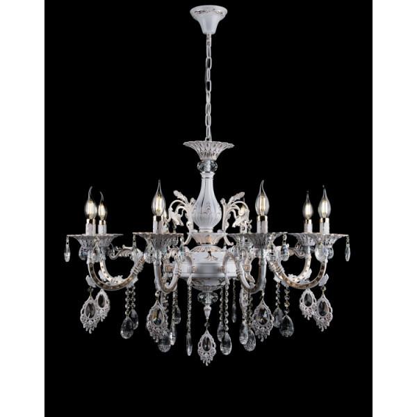 Люстра свечи хрустальная в классическом стиле для большой комнаты зала Splendid-Ray 30-3926-74