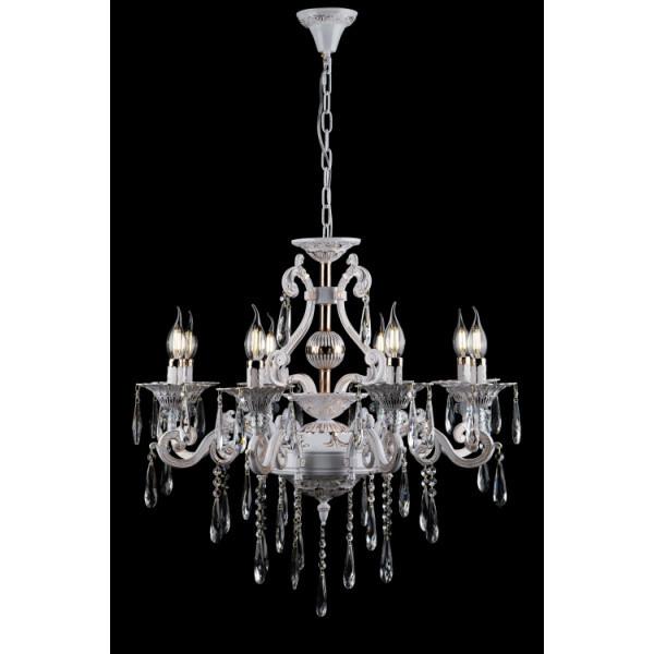 Люстра свечи хрустальная в классическом стиле для большой комнаты зала Splendid-Ray 30-3927-28