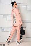 Модный спортивный костюм штаны + кофта  с капюшоном р. 46-48, 50-52, 54-56, 58-60, фото 2