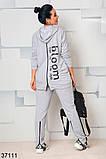 Модный спортивный костюм штаны + кофта  с капюшоном р. 46-48, 50-52, 54-56, 58-60, фото 4