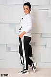 Стильный спортивный костюм штаны + кофта с рисунком р. 46-48, 50-52, 54-56, 58-60, фото 2