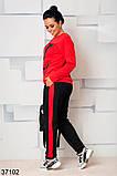 Стильный спортивный костюм штаны + кофта с рисунком р. 46-48, 50-52, 54-56, 58-60, фото 4