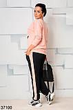 Стильный спортивный костюм штаны + кофта с рисунком р. 46-48, 50-52, 54-56, 58-60, фото 6