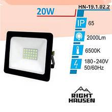 Прожектор RIGHT HAUSEN SOFT LINE LED 20W 6500K IP65 Чорний HN-191022