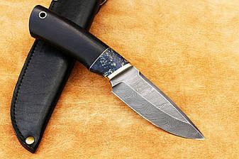 """Нож ручной работы для охоты """"Коротыш"""", дамасск, 228мм, фото 2"""