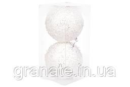 Набор елочных шаров 10см, цвет - белый