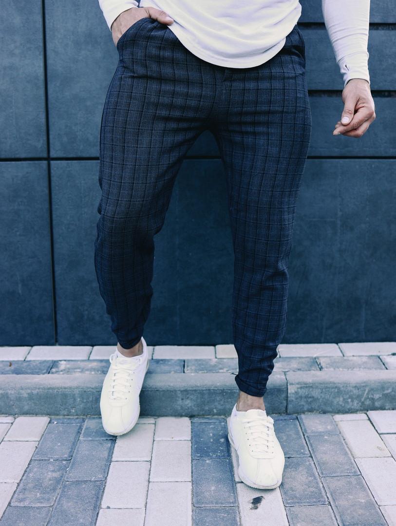 Чоловічі класичні брюки в клітинку, класичні штани
