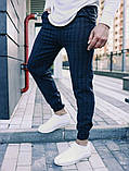 Чоловічі класичні брюки в клітинку, класичні штани, фото 3