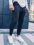 Чоловічі класичні брюки в клітинку, класичні штани, фото 4