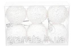 Набор елочных шаров 6см, цвет - белый
