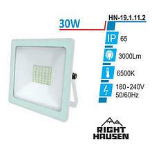 Прожектор RIGHT HAUSEN SOFT LINE LED 30W 6500K IP65 БІЛИЙ HN-191112