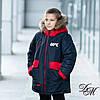 """Детская зимняя куртка на флисовой подкладке для мальчика """"Фусс"""", фото 4"""