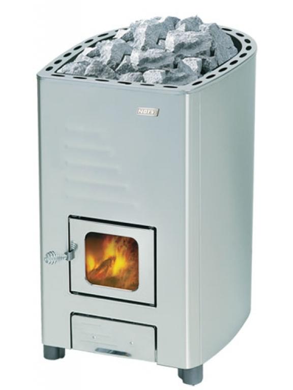Финская дровяная каменка для русской бани и финской сауны Narvi NM RST 25 кВт вес камней 40 кг