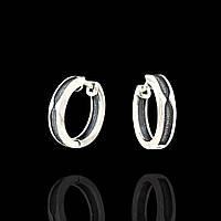 Серьги кольца из серебра 24060 Selenit