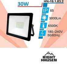 Прожектор RIGHT HAUSEN SOFT LINE LED 30W 6500K IP65 Чорний HN-191132