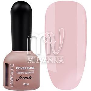 База каучуковая Lilly Beaute Cover Base CB №4, 12 мл нюдово-розовый