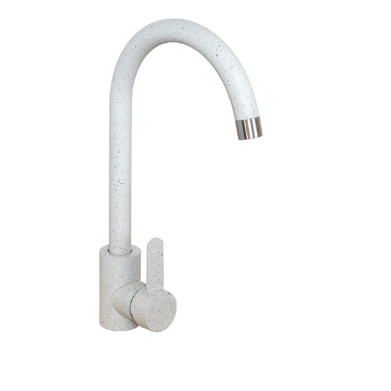 Кухонный смеситель Germece Н3008А-FH белый в точку