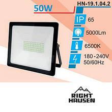 Прожектор RIGHT HAUSEN SOFT LINE LED 50W 6500K IP65 Чорний HN-191142