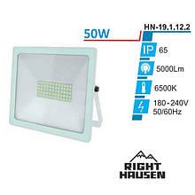 Прожектор RIGHT HAUSEN SOFT LINE LED 50W 6500K IP65 Білий HN-191122
