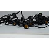 Гірлянда вулична 8 метрів чорна Белт-лайт CL50-8 10*Е27 шаг 50см 8м+3м шнур IP65 Feron, фото 7