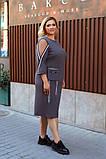 Батальное платье трикотаж  рукав 3/4 размер: 52-54, 56-58, 60-62, 64-66, фото 5