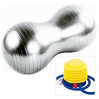 Мяч для фитнеса (фитбол) АРАХИС с насосом 45*90 см 1000гр. IronMaster, фото 1