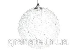 Набор елочных шаров 10см, 12шт , цвет - белый