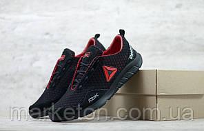 Чоловічі текстильні кросівки Чорні з червоним Reebok