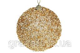 Елочные шары 10см, цвет: золото 12шт