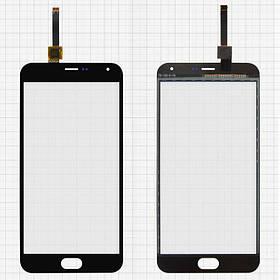 Сенсор (тачскрин) для Meizu M2 Note M571 черный