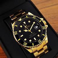 Чоловічі механічні металеві годинник Rolex Submariner Gold, механічний металевий чоловічий годинник Ролекс