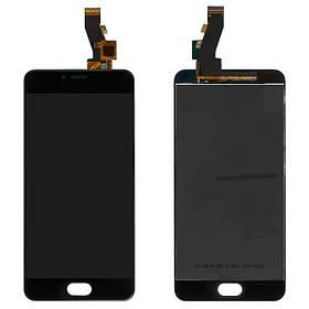 Дисплей (экран) для Meizu M3 с сенсором (тачскрином) черный Оригинал