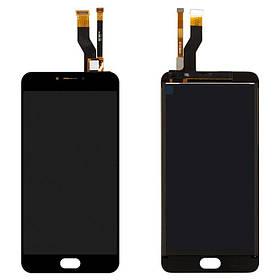 Дисплей (экран) для Meizu M3 Note (M681C) с сенсором (тачскрином) черный Оригинал