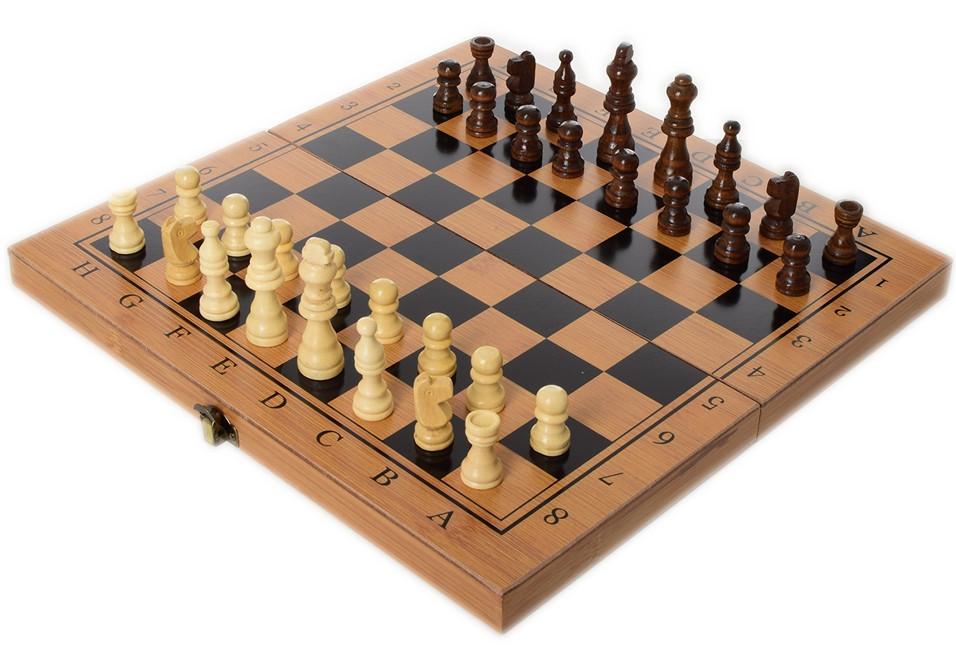 Шахи дерев'яні 3в1 35х35 см Нарди, Шашки (MS 822-35)