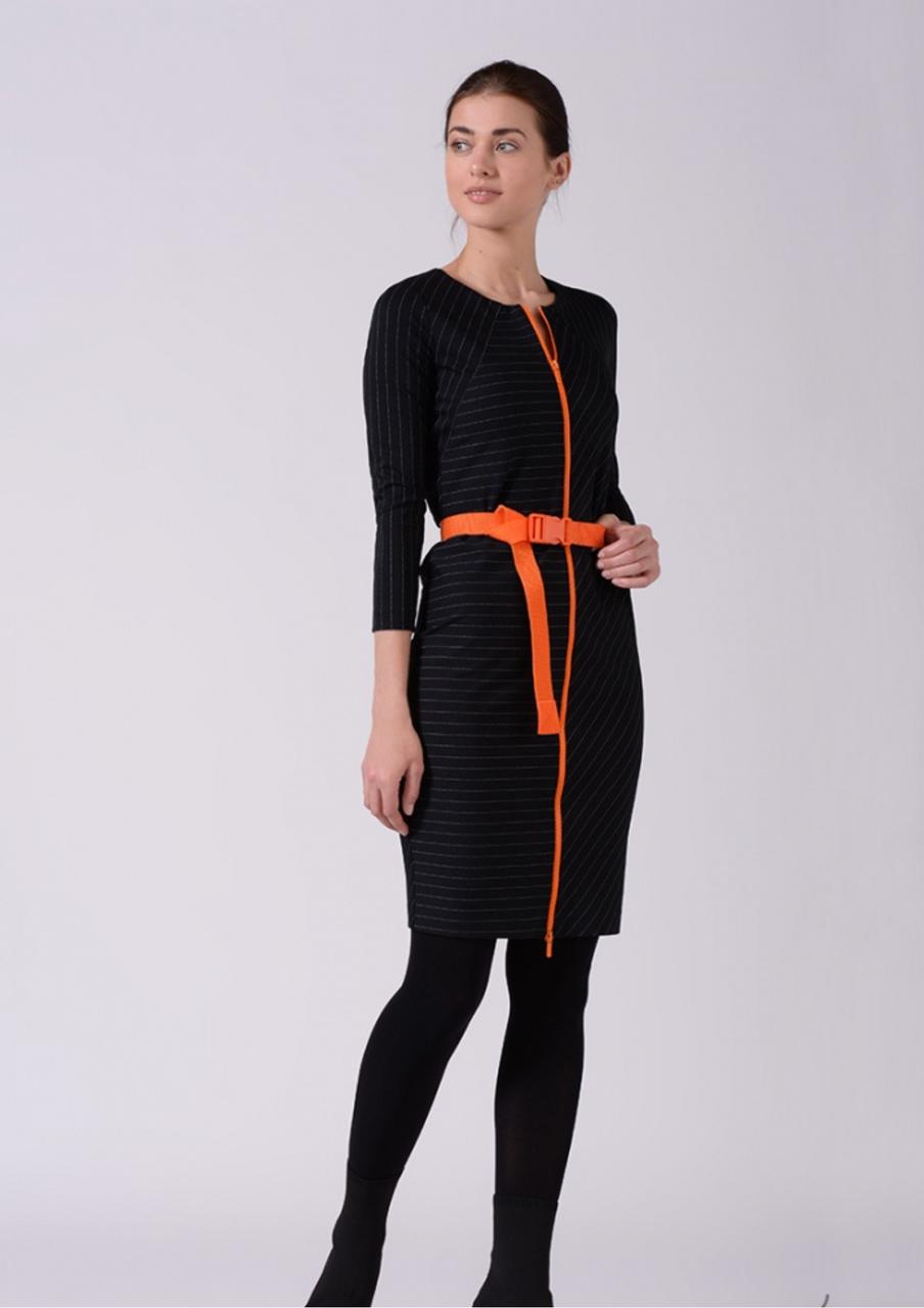 Плаття футляр у чорно-білу смужку Lesya Фриер 5