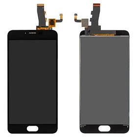 Дисплей (экран) для Meizu M5 (M611H) с сенсором (тачскрином) черный