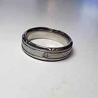 Обручальное кольцо с фианитом 18 размер покрытие родием