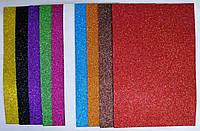 Набор фоамирана с глиттером самоклеющийся Josef Otten 2 мм 10 листов, фото 1